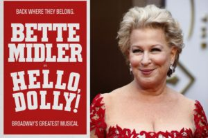 Bette Midler will star as the matchmaker Dolly Levi in the anticipated 2017 revival of Hello, Dolly! -- Photo Courtesy of LUCAS JACKSON/REUTERS