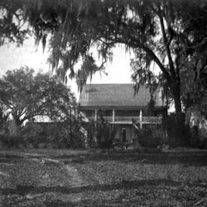 San Luis home of Emile Dubois at the San Luis site, between 1900 and 1919.