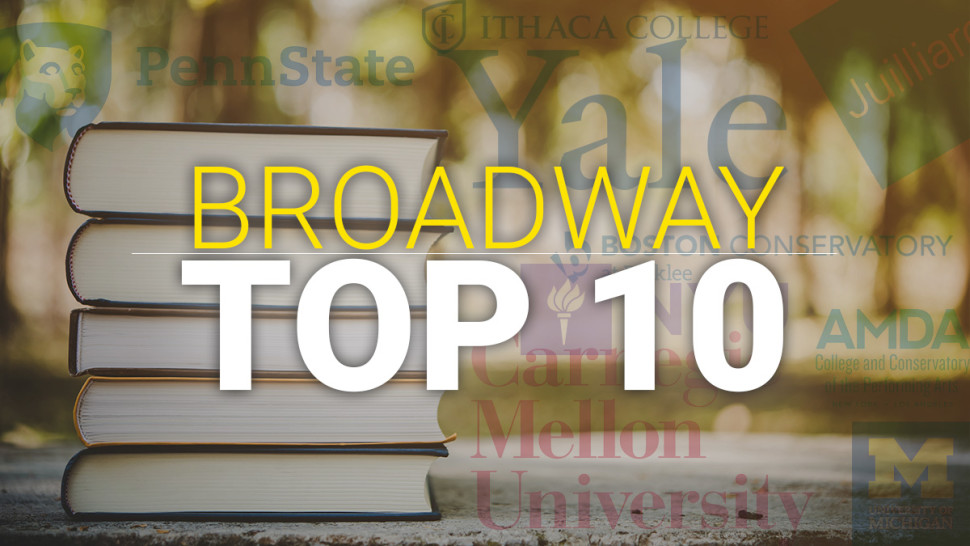 School of Theatre Recognized Again in the Top 10 on Broadway!